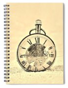 Time In The Sand In Sepia Spiral Notebook