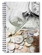 Time Is Money Concept Spiral Notebook