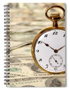Time Is Over Money Spiral Notebook