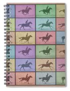 Time Lapse Motion Study Horse Color Spiral Notebook