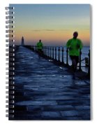 Time Lapse Runner Spiral Notebook