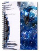 Time Line In Blue Spiral Notebook