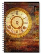 Time Marching Spiral Notebook