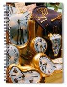 Time Melting Away.. Spiral Notebook