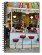 Time Out Snack Bar In Bath England Spiral Notebook