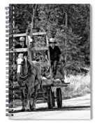 Time Travelers Bw Spiral Notebook