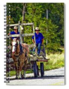 Time Travelers Impasto Spiral Notebook