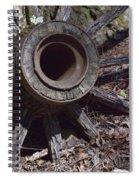 Time Worn Antique Wagon Wheel Spiral Notebook