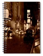Times Square At Night - In Copper Spiral Notebook