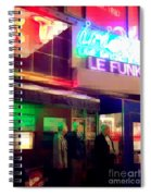 Times Square At Night - Le Funk Spiral Notebook