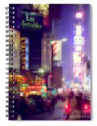 Times Square At Night - Columns Of Light Spiral Notebook