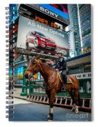 Times Square Horse Power Spiral Notebook