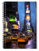 Times Square In The Rain Spiral Notebook