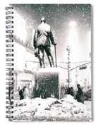 Times Square In The Snow - New York City Spiral Notebook