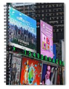 Times Square - Looking South Spiral Notebook