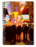 Times Square - The Lights Of New York Spiral Notebook