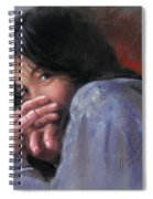 Timid Girl Spiral Notebook