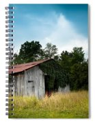 Tin Roof...ivy Covered Barn Spiral Notebook