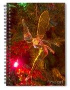 Tinker Bell Christmas Tree Landing Spiral Notebook