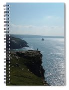 Man On The Edge Tintagel Spiral Notebook