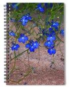 Tiny Blue Flowers Spiral Notebook
