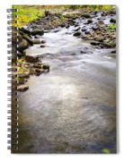Tiny Rapids At The Bend  Spiral Notebook