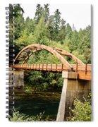 Tioga Bridge Over North Umpqua River Spiral Notebook
