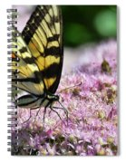 Tip Toe Through The Flowers Spiral Notebook