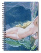Titania Lying On A Leaf  Spiral Notebook