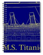 Titanic By Design Spiral Notebook