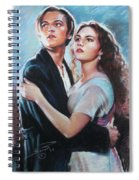 Titanic Jack And Rose Spiral Notebook