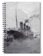 Titanic Leaving Southhampton Spiral Notebook