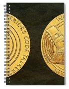 Tlingit Tribe Code Talkers Bronze Medal Art Spiral Notebook