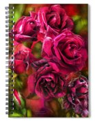 To Be Loved - Red Rose Spiral Notebook