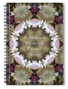 To Love And To Cherish Forever More Spiral Notebook