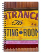 To The Tasting Room Spiral Notebook