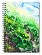 To The Unknown Abstract Path Number Five Spiral Notebook