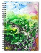 To The Unknown Abstract Path Number Six Spiral Notebook