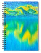 To West  Horses With Reflection Spiral Notebook