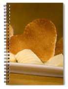 Toast Hearts With Butter Spiral Notebook