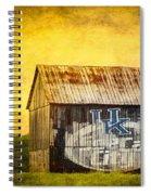 Tobacco Barn In Kentucky Spiral Notebook