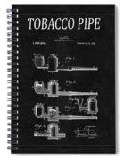 Tobacco Pipe Patent 4 Spiral Notebook