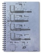 Tobacco Pipe Patent Spiral Notebook