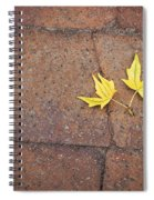 Together Yellow Maple Leaves Spiral Notebook
