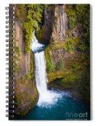 Toketee Falls Spiral Notebook