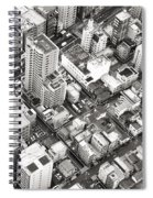 Tokyo City Black And White Spiral Notebook