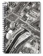 Tokyo Intersection Black And White Spiral Notebook