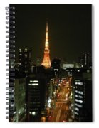 Tokyo Tower At Night Spiral Notebook