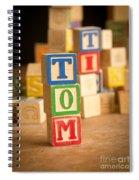 Tom - Alphabet Blocks Spiral Notebook