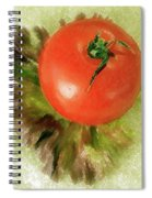 Tomato And Lettuce Spiral Notebook